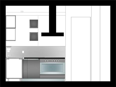 """Kitchen Design for Apartment """"Nikola Gjorchev"""""""